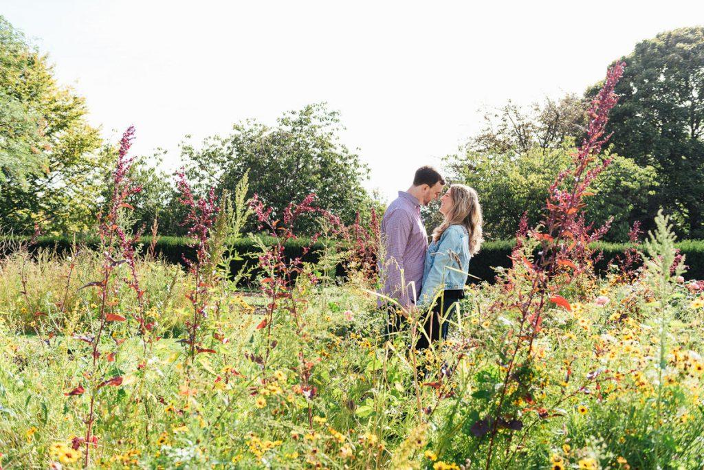 Couple Embrace Amongst the Greenwich Park Rose Garden