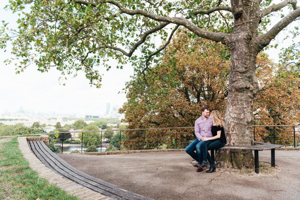 Couple Sit Together in Greenwich Park