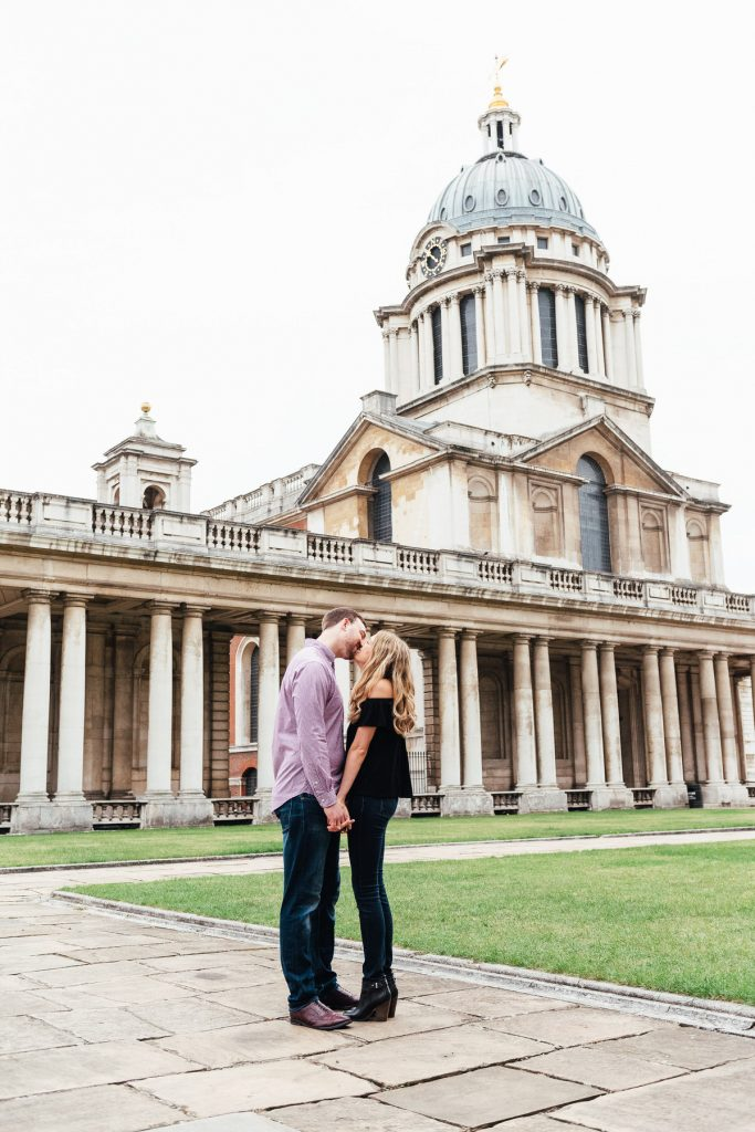 Romantic Greenwich Naval College Engagement Shoot