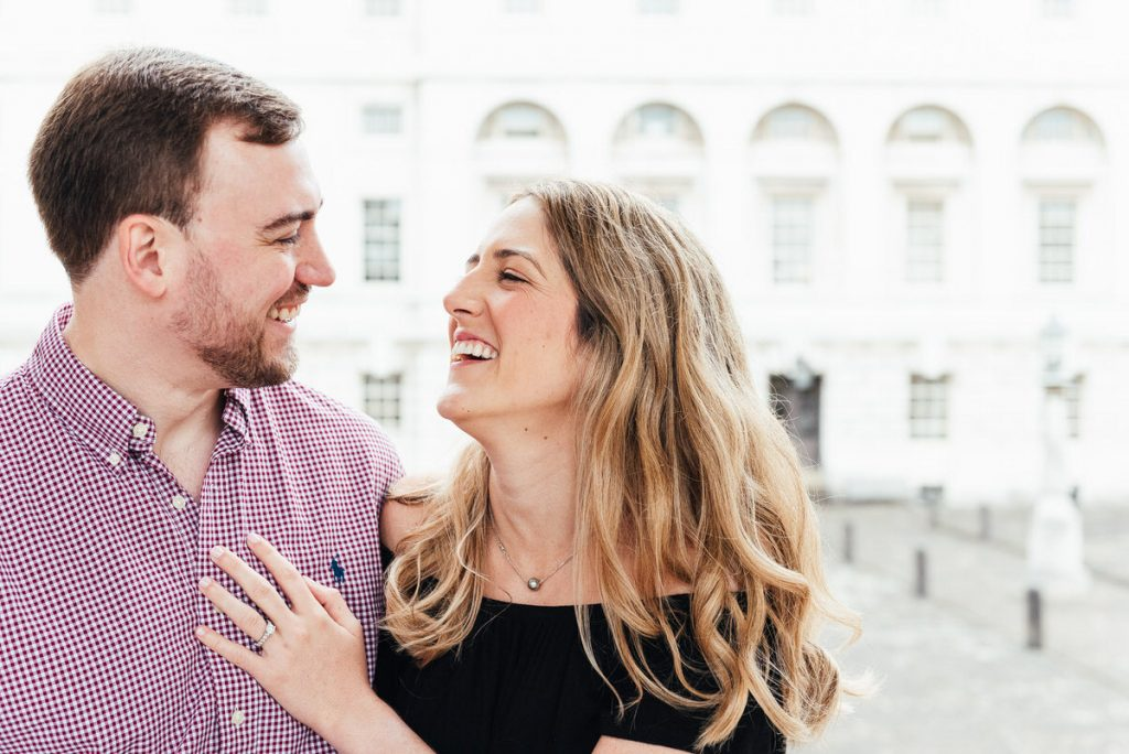Relaxed Couples Portrait With Giggling Couple