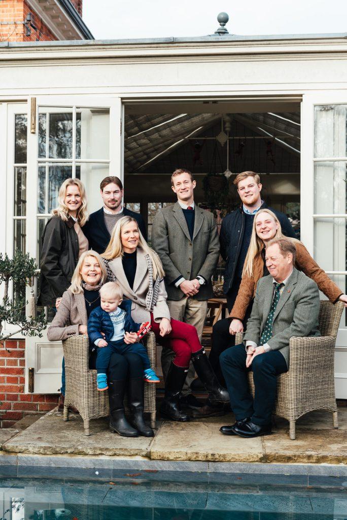 Elegant outdoor family portrait, Surrey Family Photographer