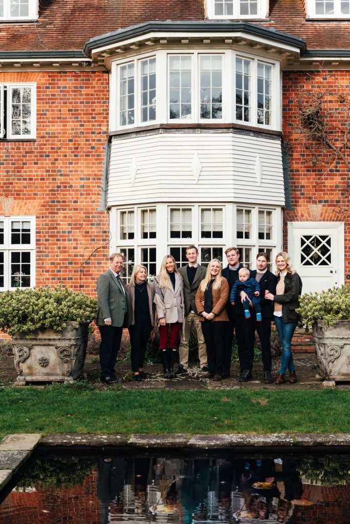Outdoor Family Portrait at Home, Surrey