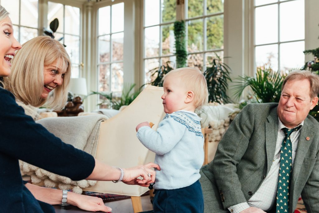 Relaxed family photoshoot at home, Surrey