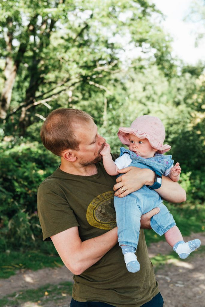 Natural documentary family photography, Outdoor newborn photography