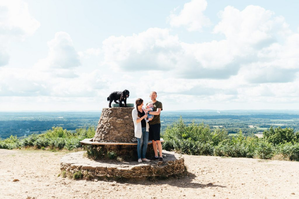 Holmbury Hill viewpoint family portrait