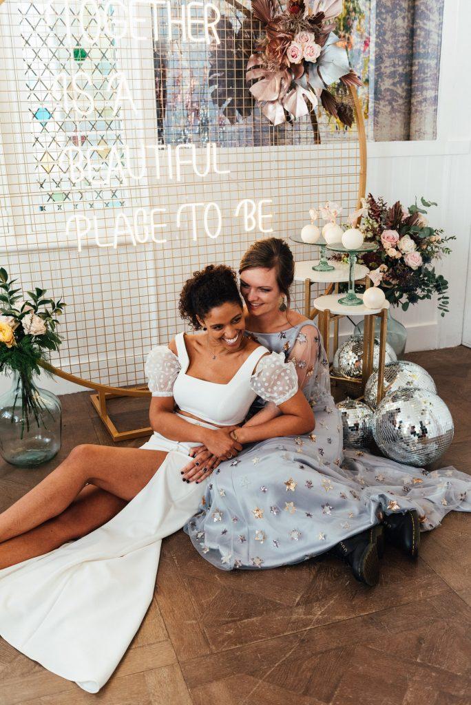 Relaxed Wedding Portraits, LGBTQ friendly wedding photographer