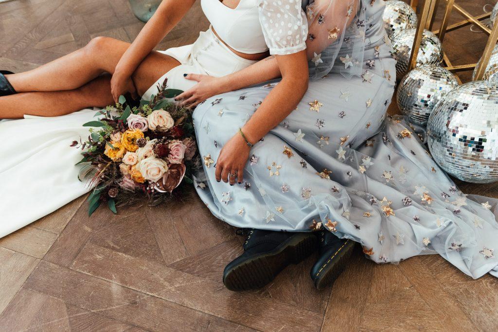 Punk Rock Wedding Attire, LGBTQ friendly wedding photographer