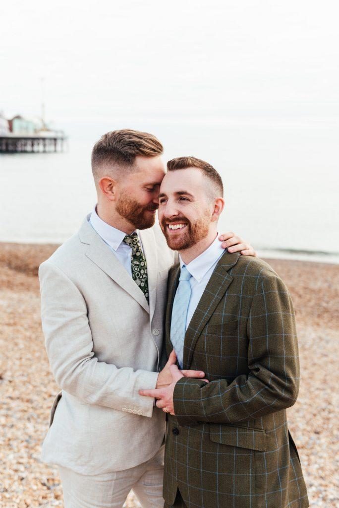 Romantic LGBTQ wedding photography