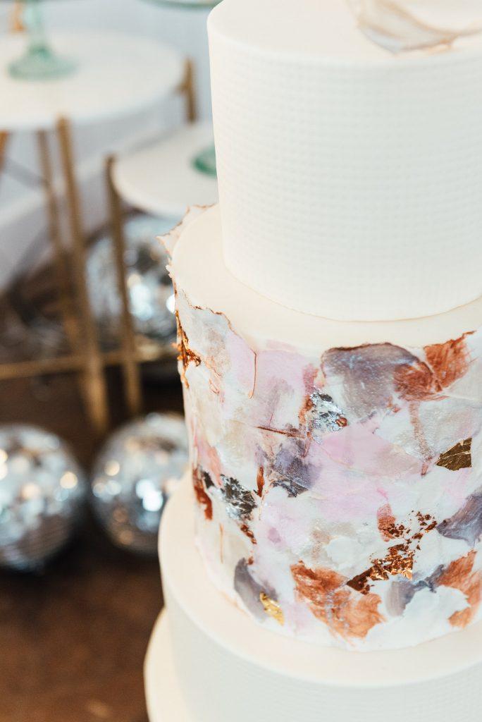 Modern wedding cake, LGBTQ friendly wedding photographer