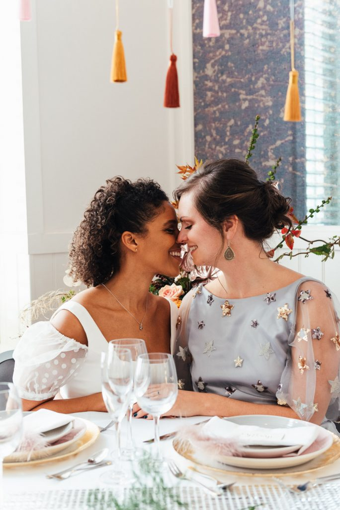 Intimate couples portrait, lgbtq wedding friendly photographer