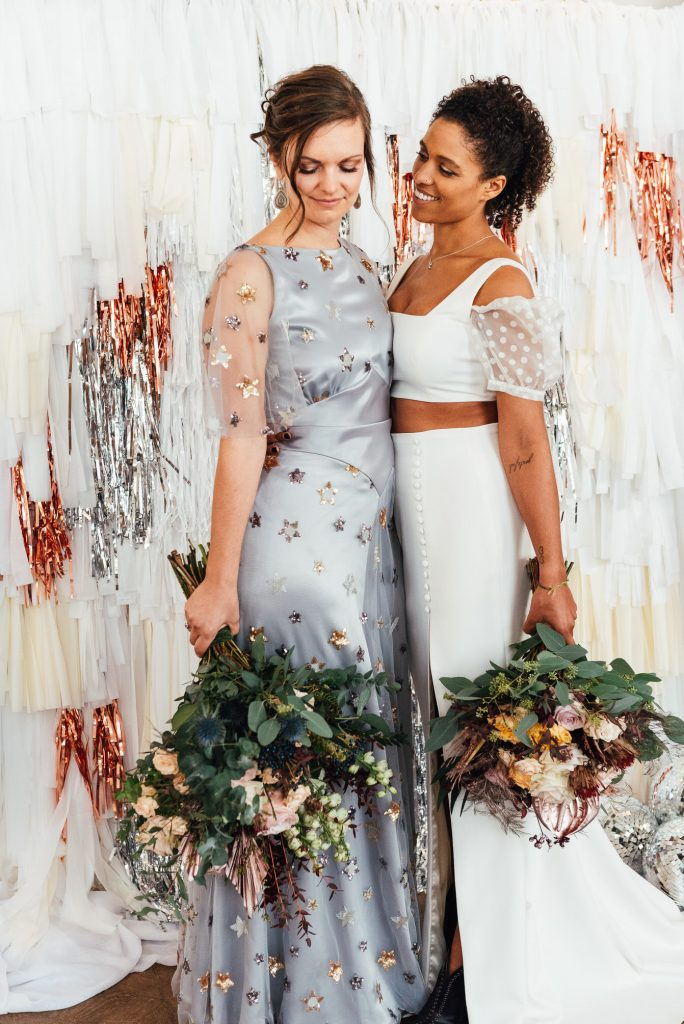LGBTQ wedding photography, bridal wedding portrait