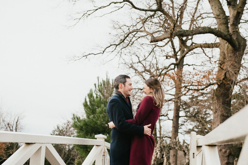 Romantic surprise proposal photography in Painshill Park