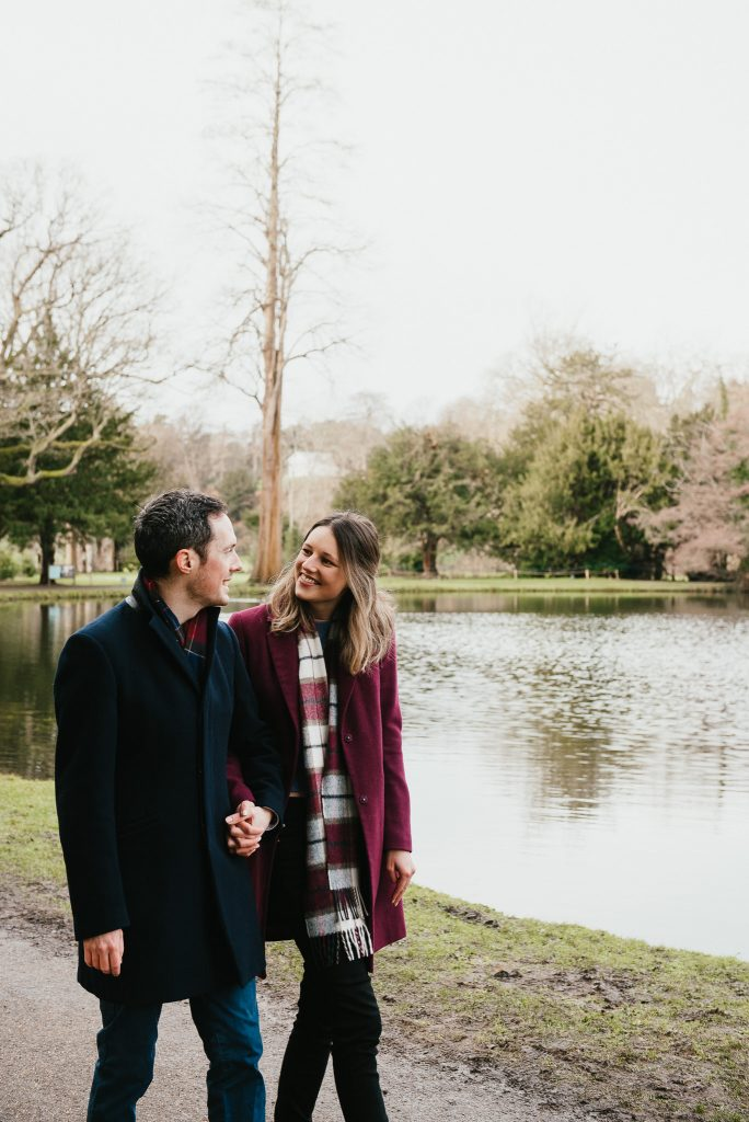 Candid couples photography at Painshill Park