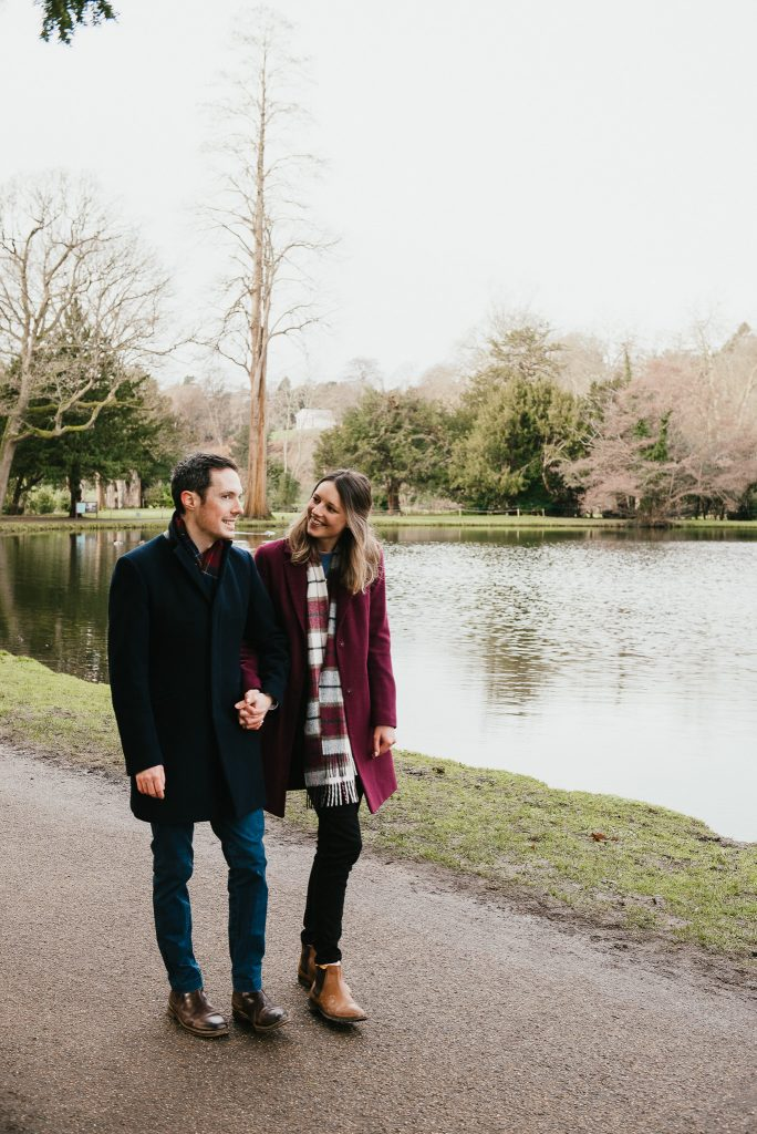 Romantic and candid Surrey proposal photography