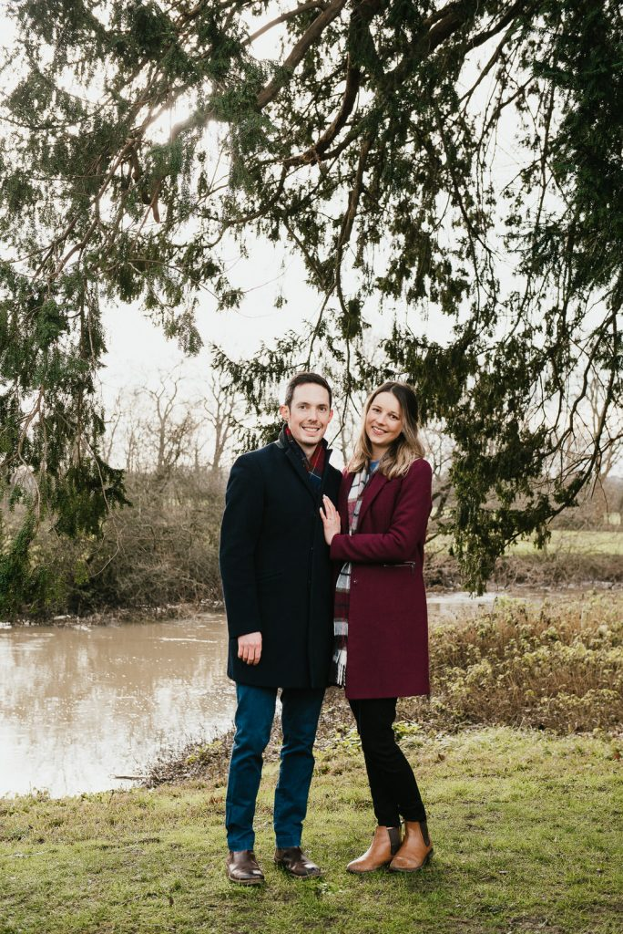 Natural outdoors couple photography, Surrey