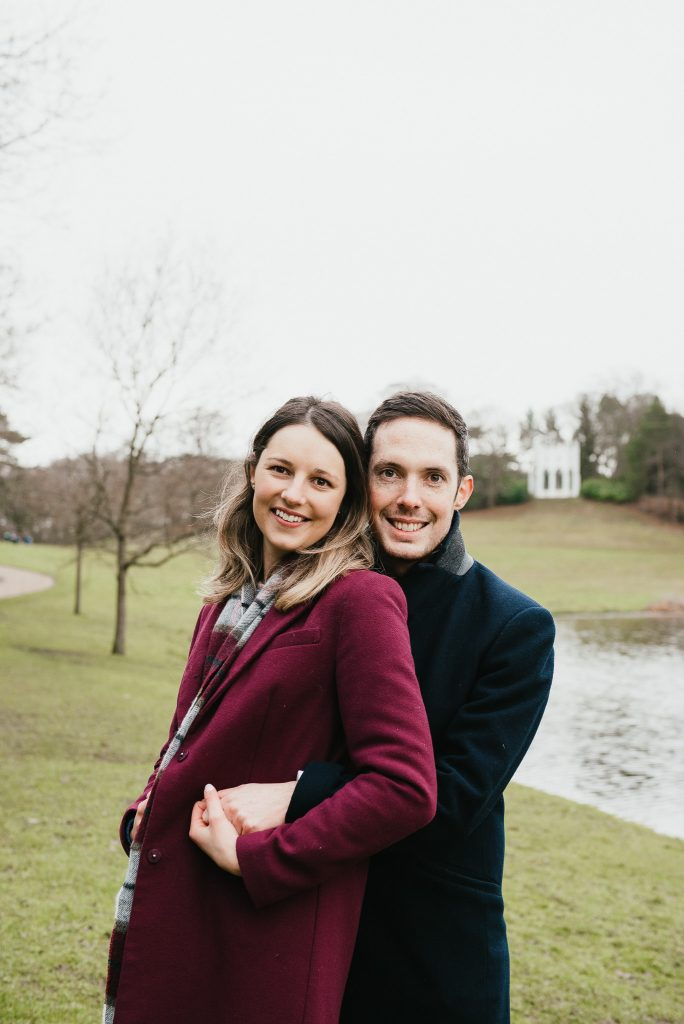 Surrey engagement photography at Painshill Park