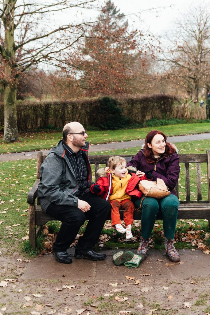 Natural and Relaxed Family Portrait