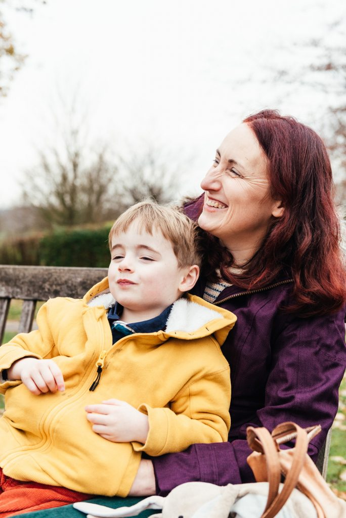 Candid Mother and Son Portrait, Nonsuch Mansion Family Shoot