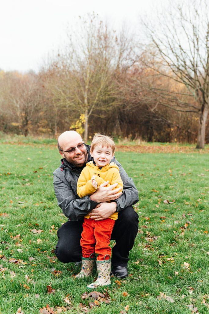 Father and son portrait, Surrey family photographer