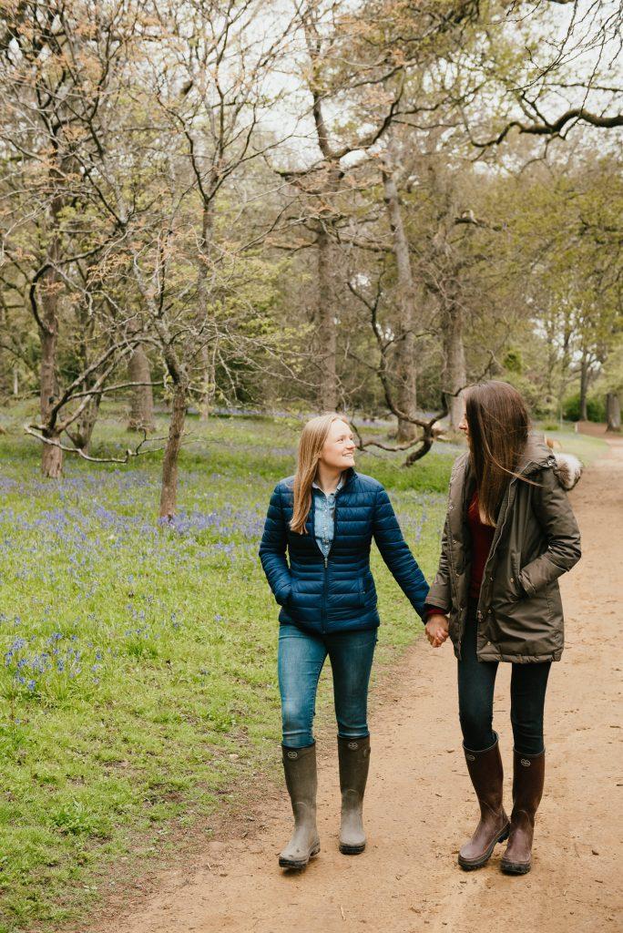 Natural Spring Couples Pre-Wedding Shoot Surrey
