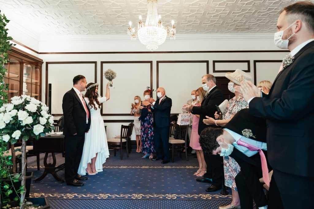 Newlywed's Celebrate Their Marriage