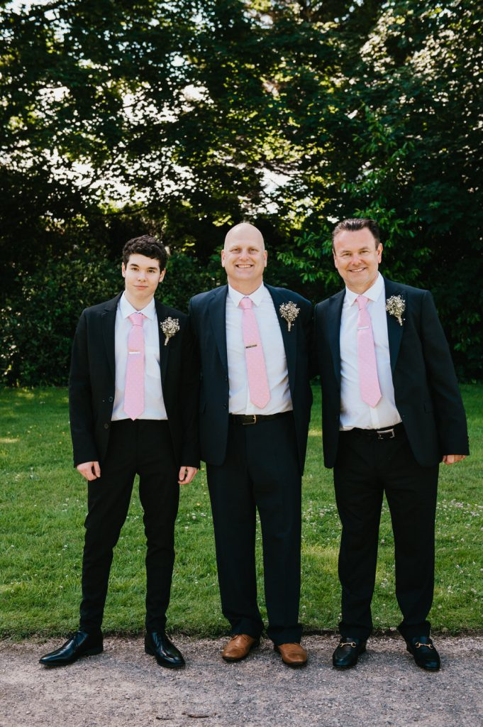 Relaxed Family Group Portrait, Leatherhead Registry Wedding
