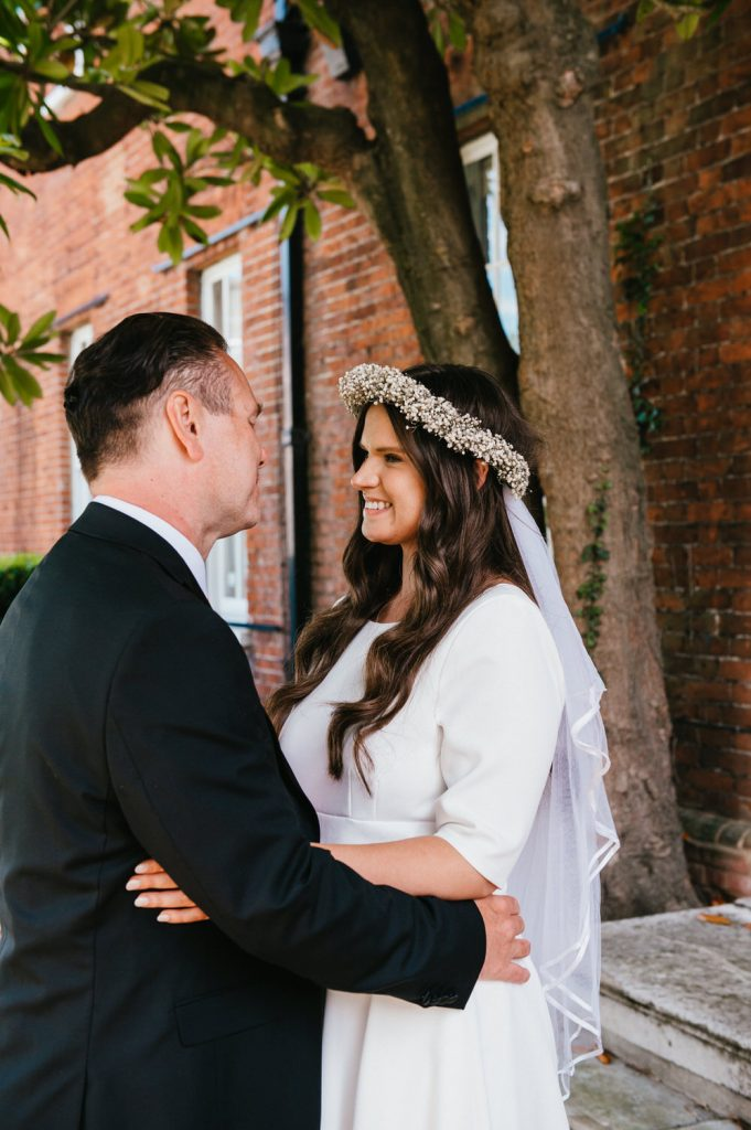 Natural and Relaxed Wedding Portrait, Intimate Micro Surrey Wedding