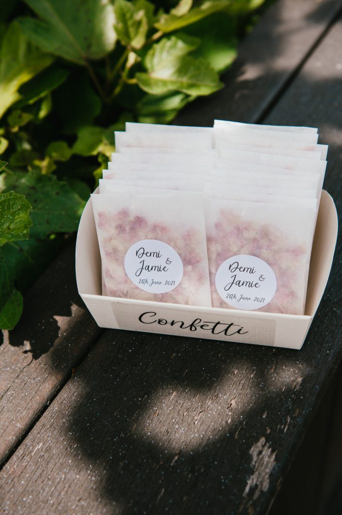 Confetti for Micro Surrey Wedding At Home
