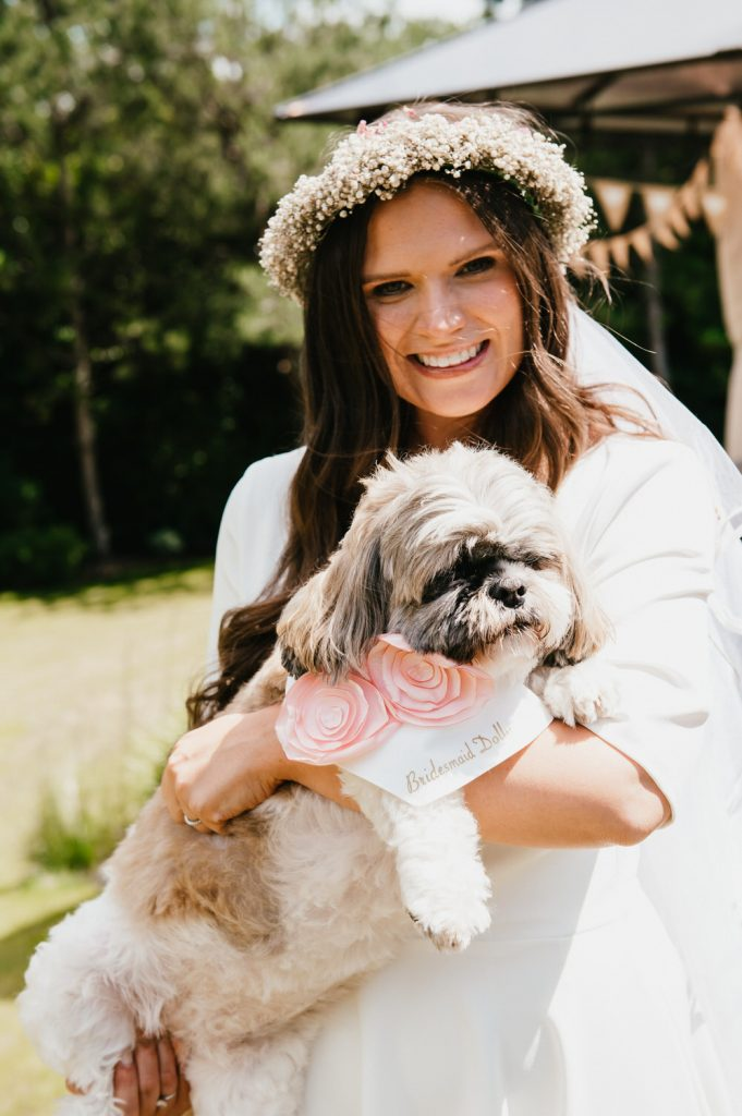 Bride with Beloved Family Pet