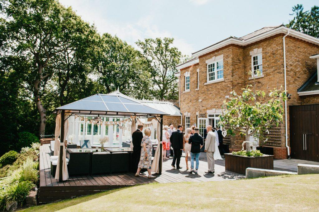 Intimate Wedding Reception in Family Garden