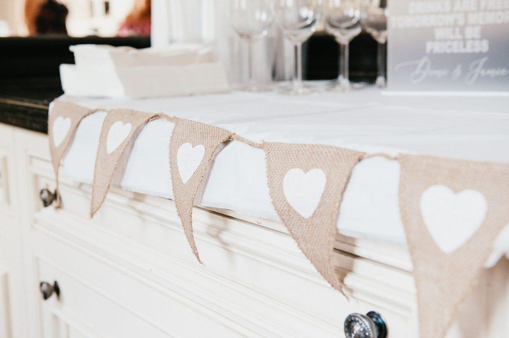 Wedding Details at Intimate Home Wedding Reception