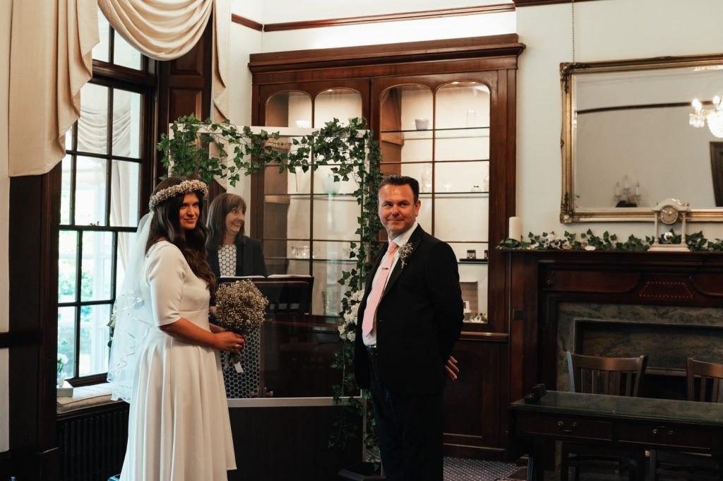 Couple Wait For Their Guests, Pandemic Wedding