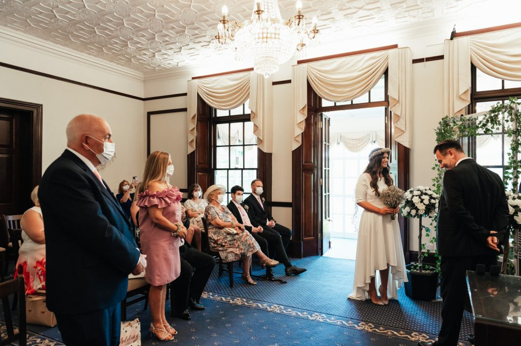 Parents Witness The Marriage of Their Daughter, Surrey Wedding