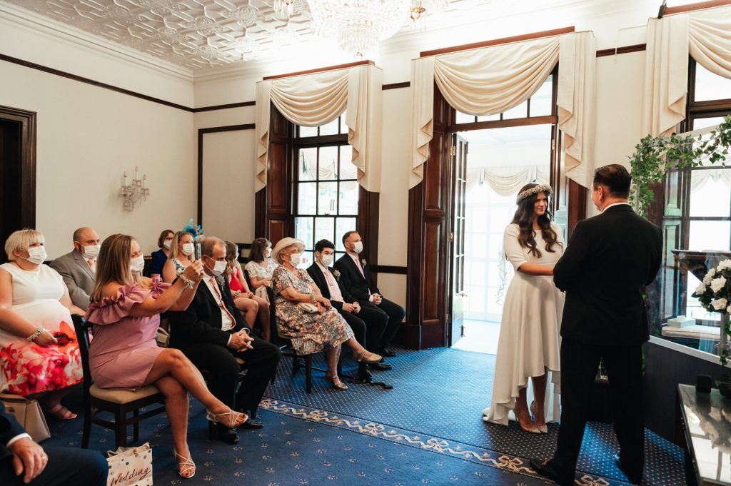 Couples Say Their Vows, Leatherhead Registry Wedding