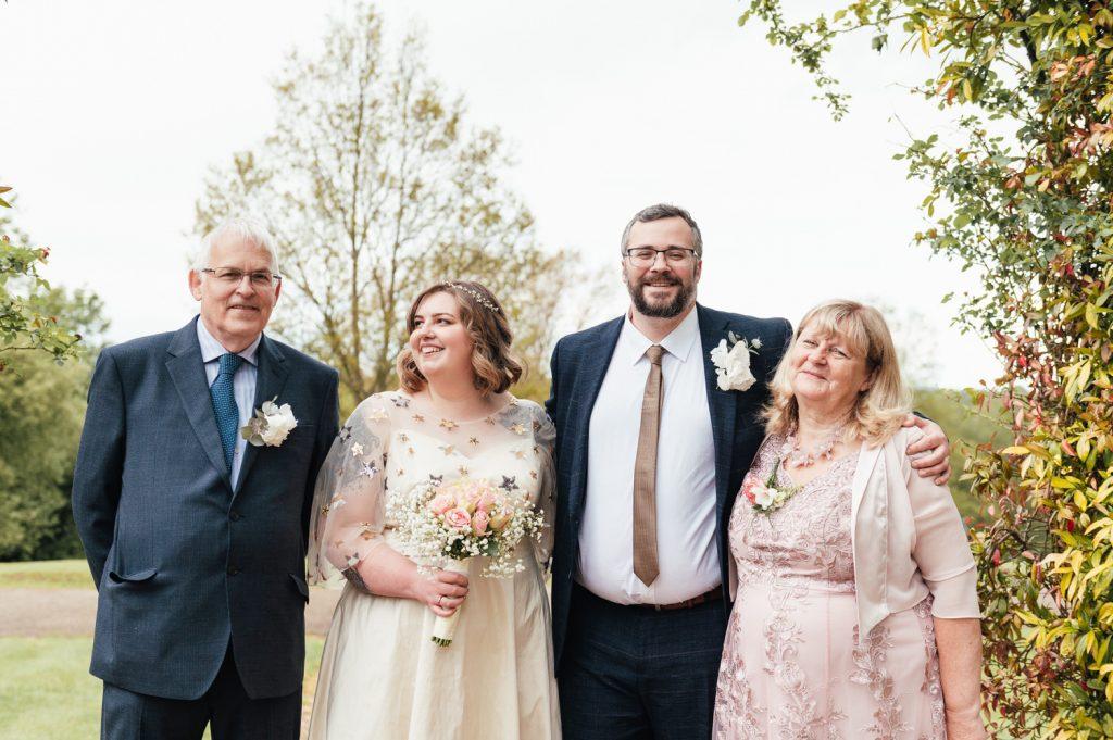 Intimate Surrey wedding Group Photography