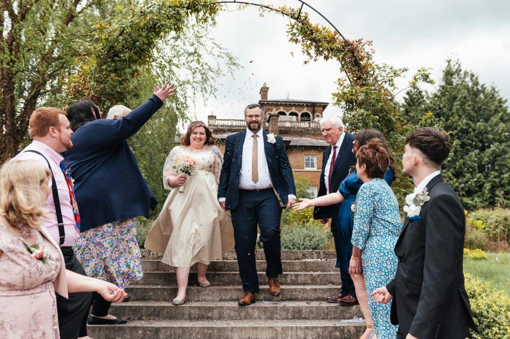 Intimate Surrey wedding Confetti Aisle