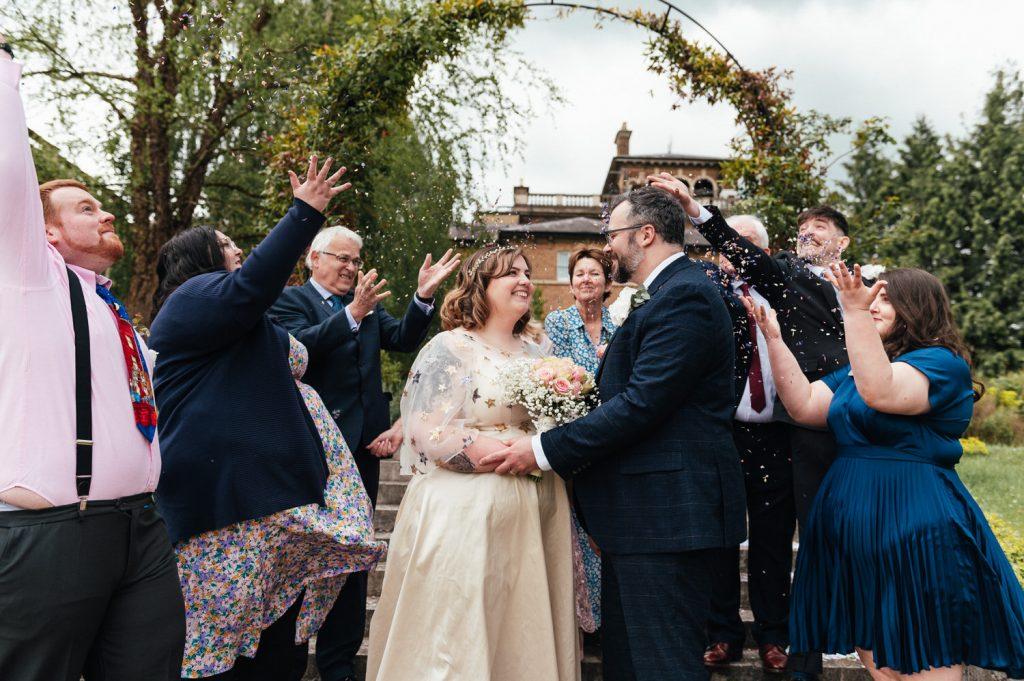 Weybridge Wedding Confetti Shot