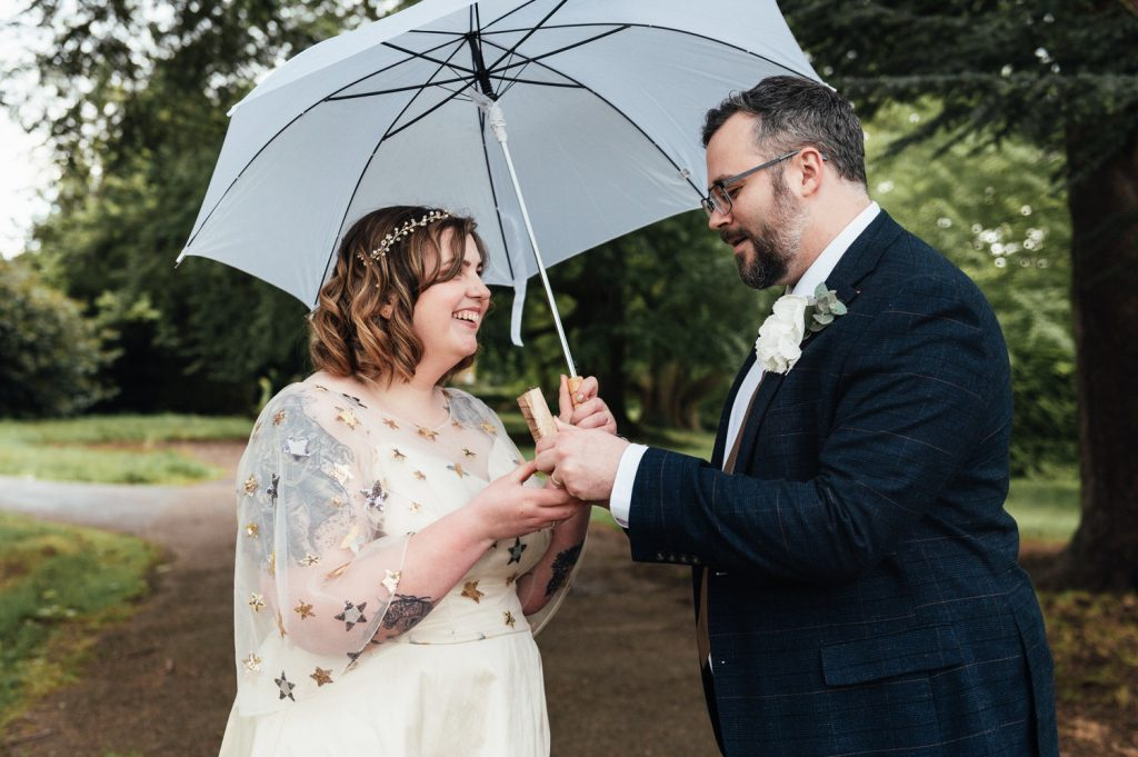 Couple Give Gifts on Wedding Day