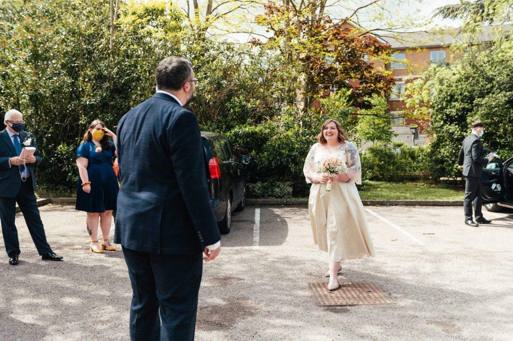 Arrival of Wedding Couple, Weybridge Resister Wedding Photography