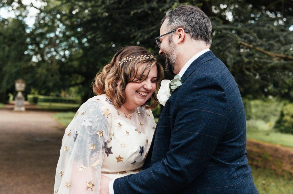 Candid and Intimate Surrey Wedding Portrait