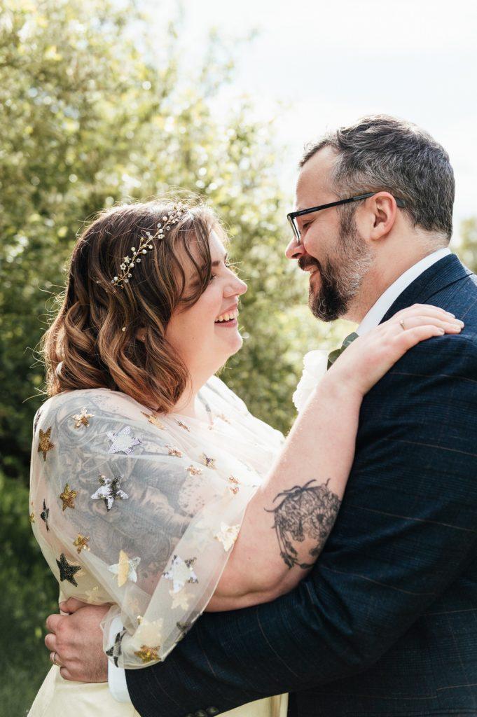 Candid Romantic Wedding Portrait