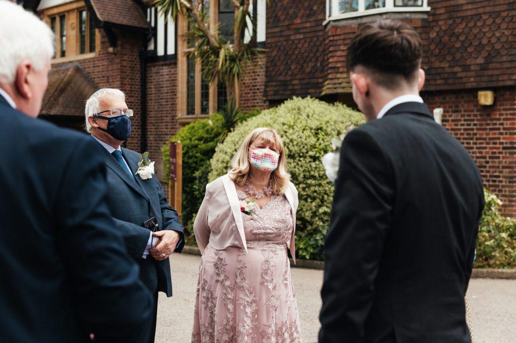 Pandemic Wedding Weybridge Surrey