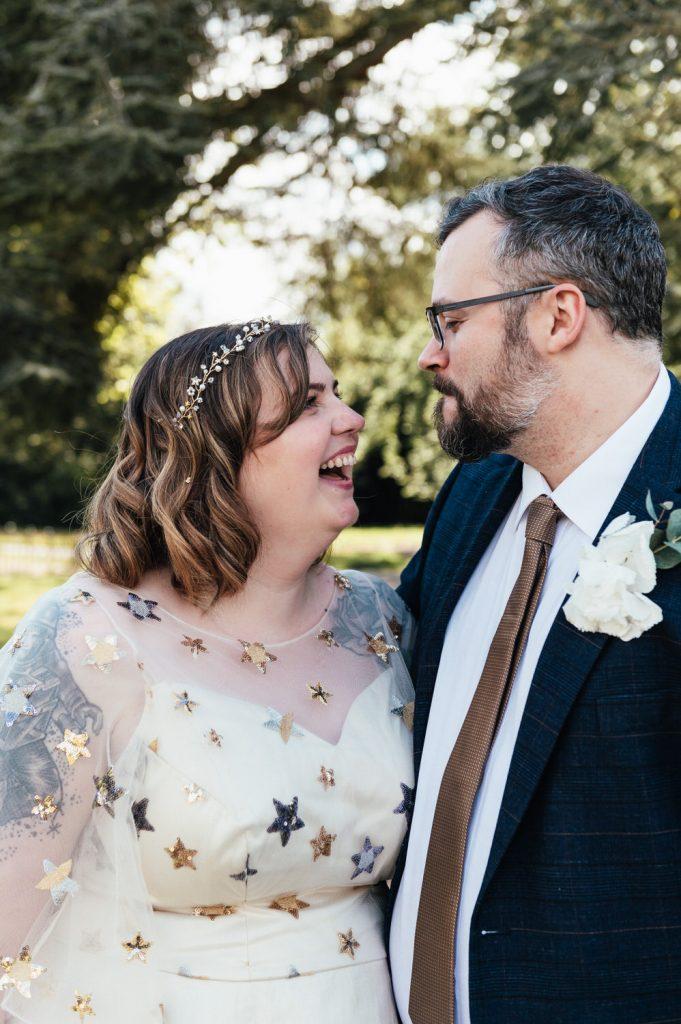 Fun Couples Wedding Portrait