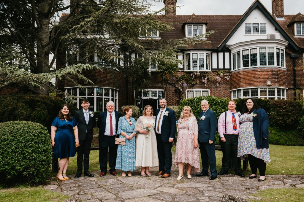 Natural and relaxed group wedding photography