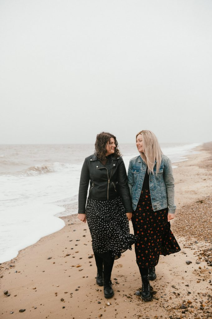 Natural Beach Engagement Photography