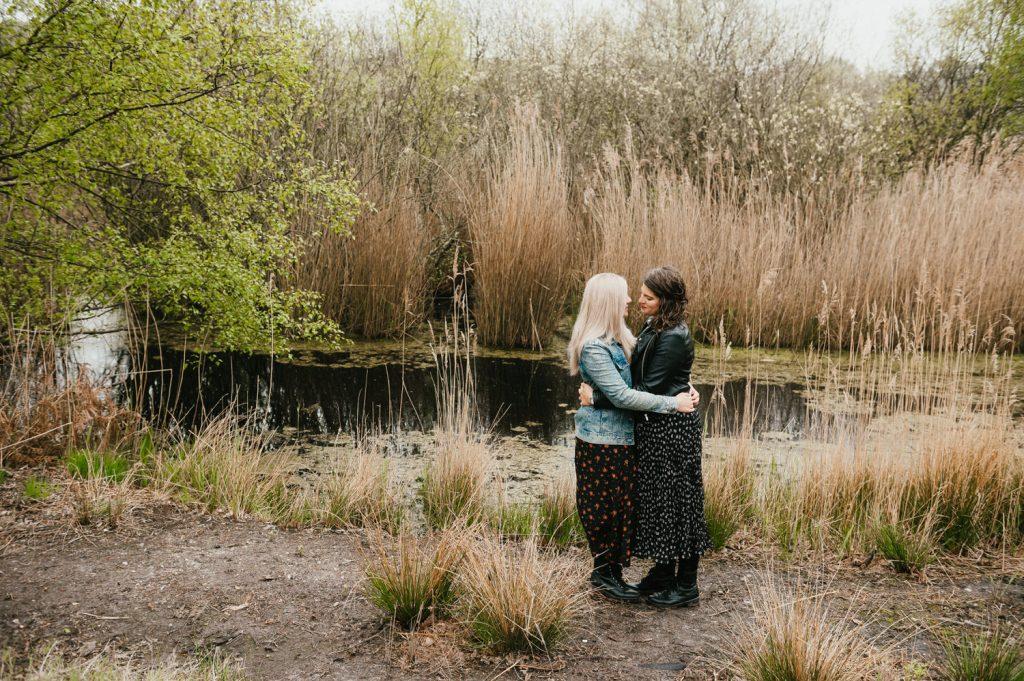 Fun Intimate Dunwich Heath and Beach Engagement Shoot