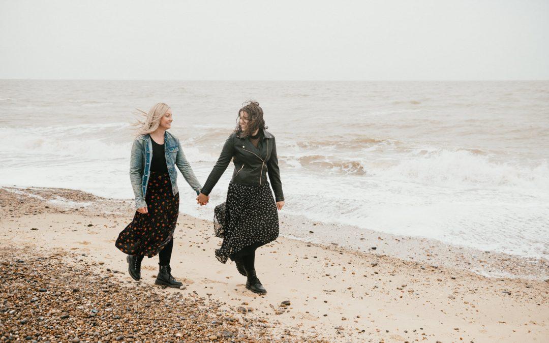 Suffolk Engagement Shoot – Rainy Beach Engagement Session